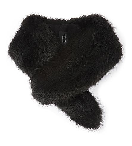 HELEN MOORE Vintage faux-fur collar (Jet