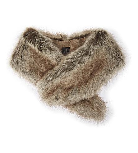 HELEN MOORE Vintage faux-fur collar (Truffle