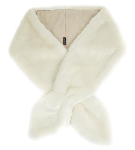 HELEN MOORE Vixen scarf (White