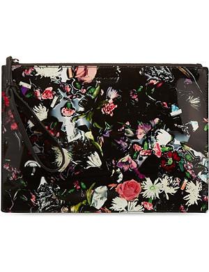 MCQ ALEXANDER MCQUEEN Floral leather clutch