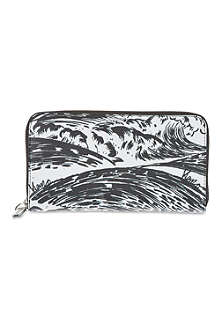 KENZO Pacific print leather purse