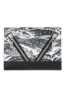 KENZO Kalifornia leather clutch bag