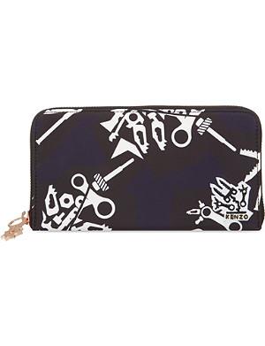 KENZO Printed nylon wallet