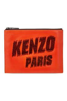 KENZO Kenzo Paris flock print pouch