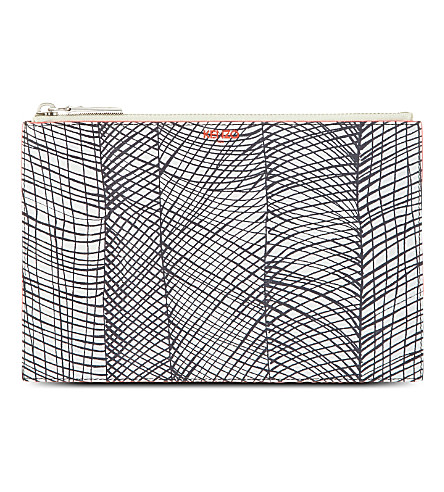 KENZO Printed pouchette (Blanc