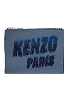 KENZO Paris leather pouch