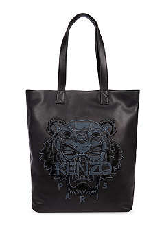 KENZO Leather Tiger shoulder bag