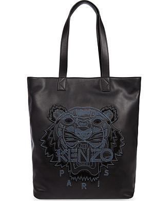 KENZO Leather Tiger shoulder bag