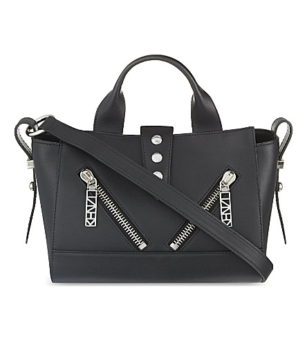 KENZO Kalifornia small leather shoulder bag (Black