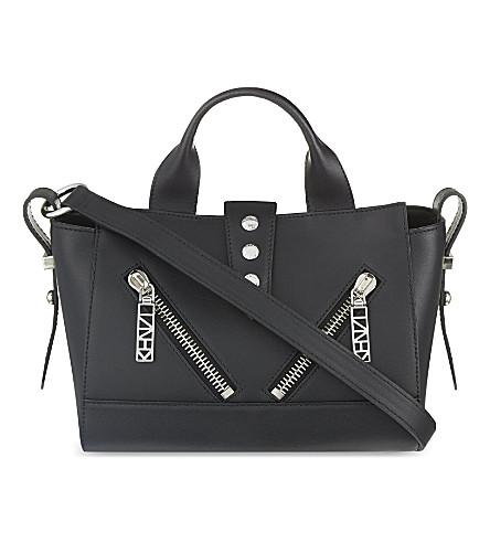 KENZO Kalifornia small leather shoulder bag (Black