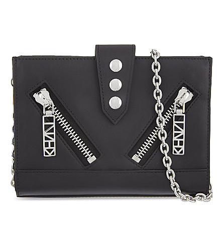 KENZO Mini Kalifornia chain clutch (Black