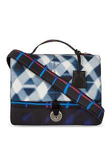 KENZO Dix-huit print satchel
