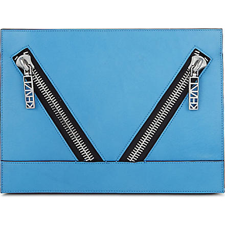 KENZO California clutch (Blue