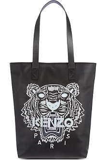 KENZO Kenzo tiger motif leather tote