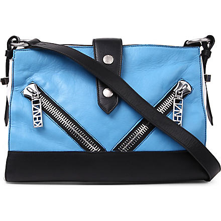 KENZO Leather cross-body bag (Blue