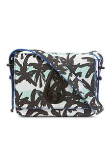 KENZO Foldover printed shoulder bag