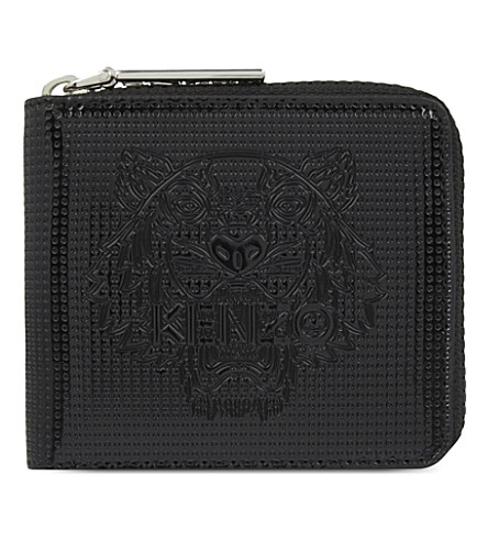 KENZO Tiger zip-around wallet (Black