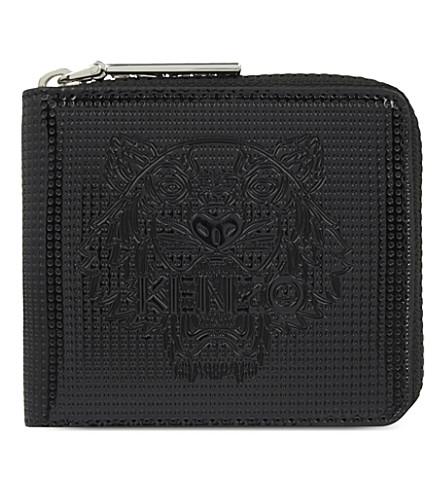 KENZO Tiger zipper-around wallet (Black