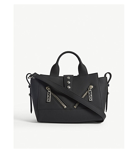 KENZO Kalifornia small gommato leather tote (Black