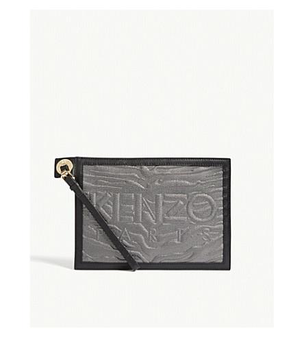 KENZO A5 zipped kombo pouch (Silver