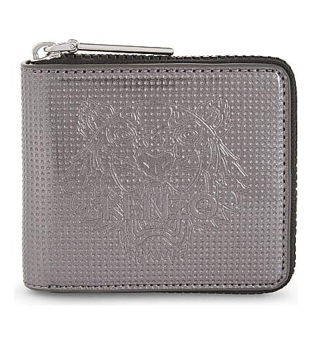 KENZO Tiger small zip-around wallet (Grey