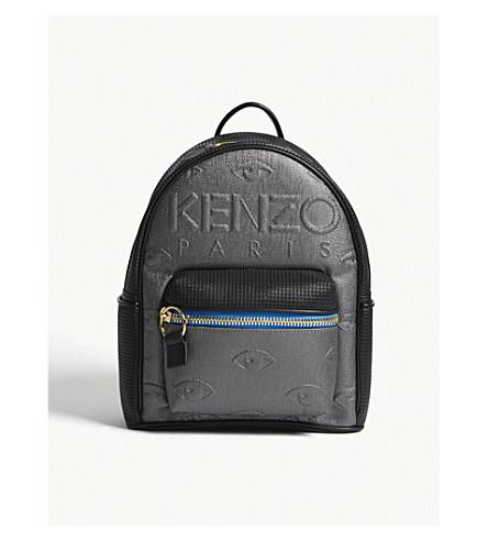 KENZO Kembo neoprene metallic backpack (Silver