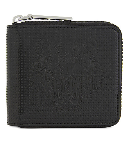 KENZO Tiger square wallet (Black