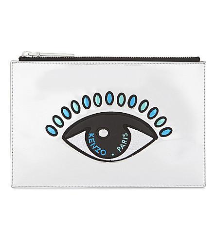 KENZO Metallic eye pouch (Silver