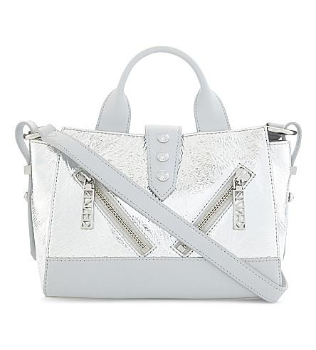 KENZO Kalifornia mini leather shoulder bag (Silver