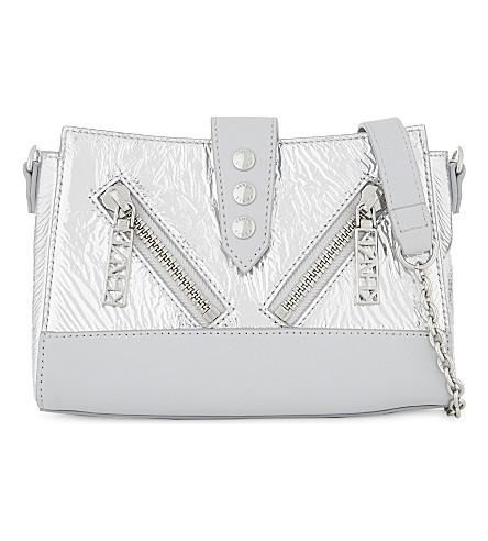 KENZO Kalifornia leather mini cross-body bag (Silver