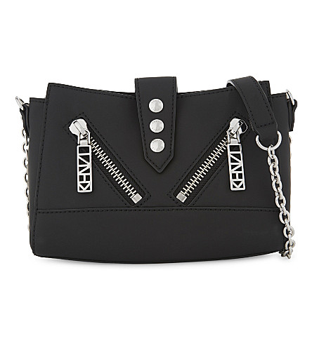 KENZO Kalifornia leather mini cross-body bag (Black