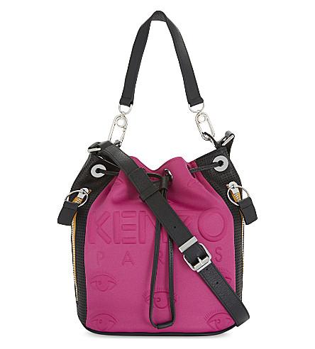 KENZO Kombo neoprene bucket bag (Fuschia