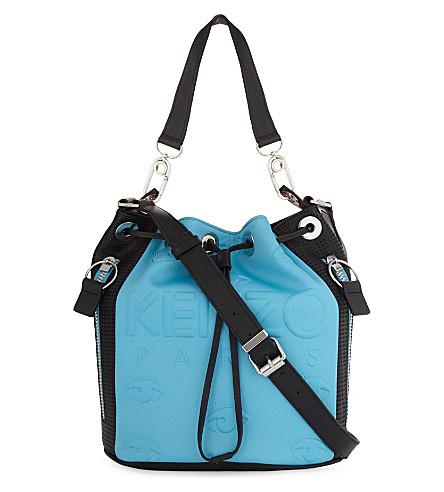 KENZO Kombo neoprene bucket bag (Turquoise