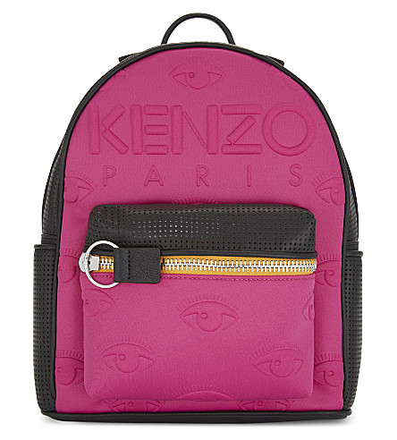KENZO Embossed neoprene backpack (Fuschia