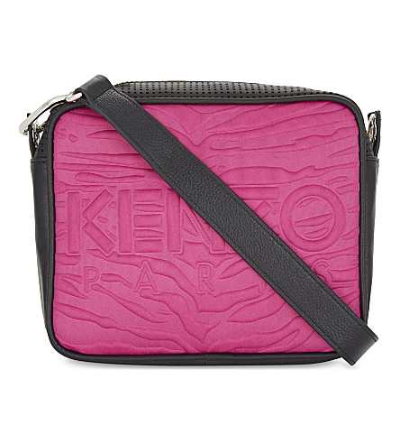 KENZO Embossed neoprene camera bag (Fuschia