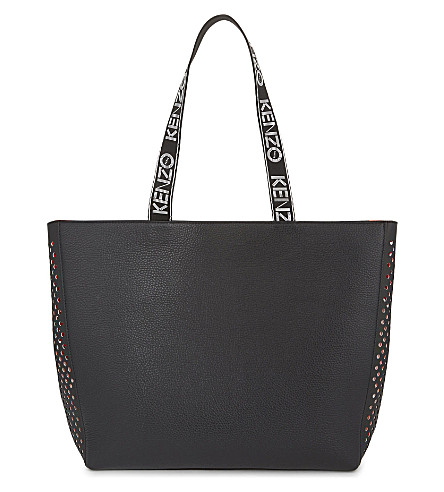 KENZO Sport leather tote (Black