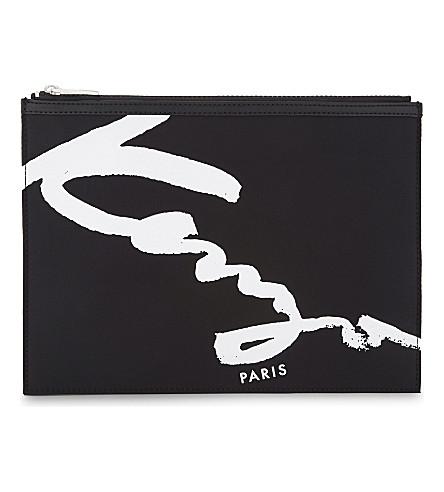KENZO Signature zipped pouch (Black