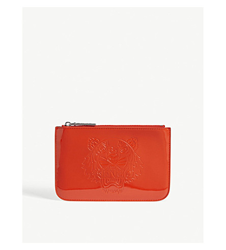 KENZO Tiger head pouch (Red