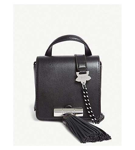 KENZO Sailor mini tassel leather shoulder bag (Black