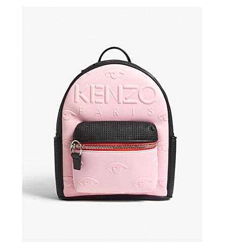 KENZO Kombo logo neoprene backpack (Flamingo+pink