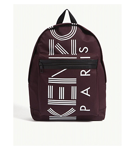 KENZO Striped logo nylon backpack