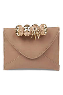 MAISON DU POSH Knuckleduster leather envelope clutch
