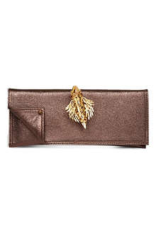 MAISON DU POSH Leather ring envelope clutch