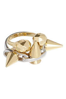 JOOMI LIM Skull and spike rings