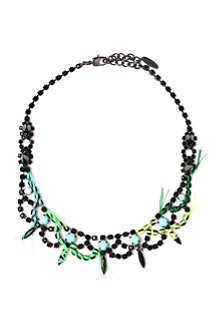 JOOMI LIM Crystal spike and thread necklace in jet blue