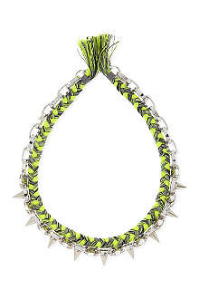 JOOMI LIM Braided spike necklace