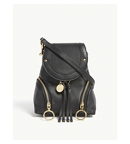 SEE BY CHLOE Small Olga leather backpack (Black