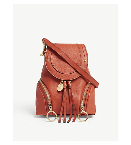 SEE BY CHLOE Small Olga leather backpack (Red sand