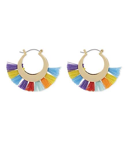 REBECCA MINKOFF Palm tassel hoop earrings (Multi