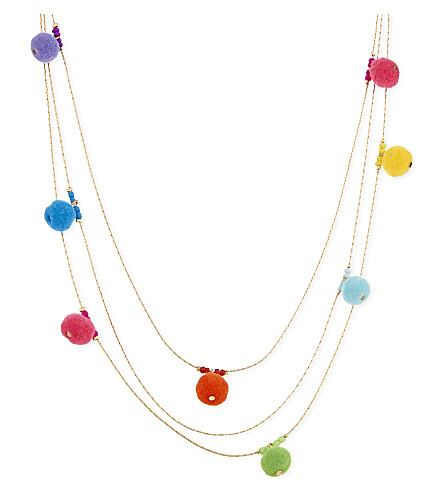 REBECCA MINKOFF Savanna pom pom necklace (Multi